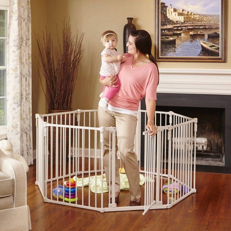Wide Baby Playard Safety Enclosure Pen Metal Gate Toddler Playpen