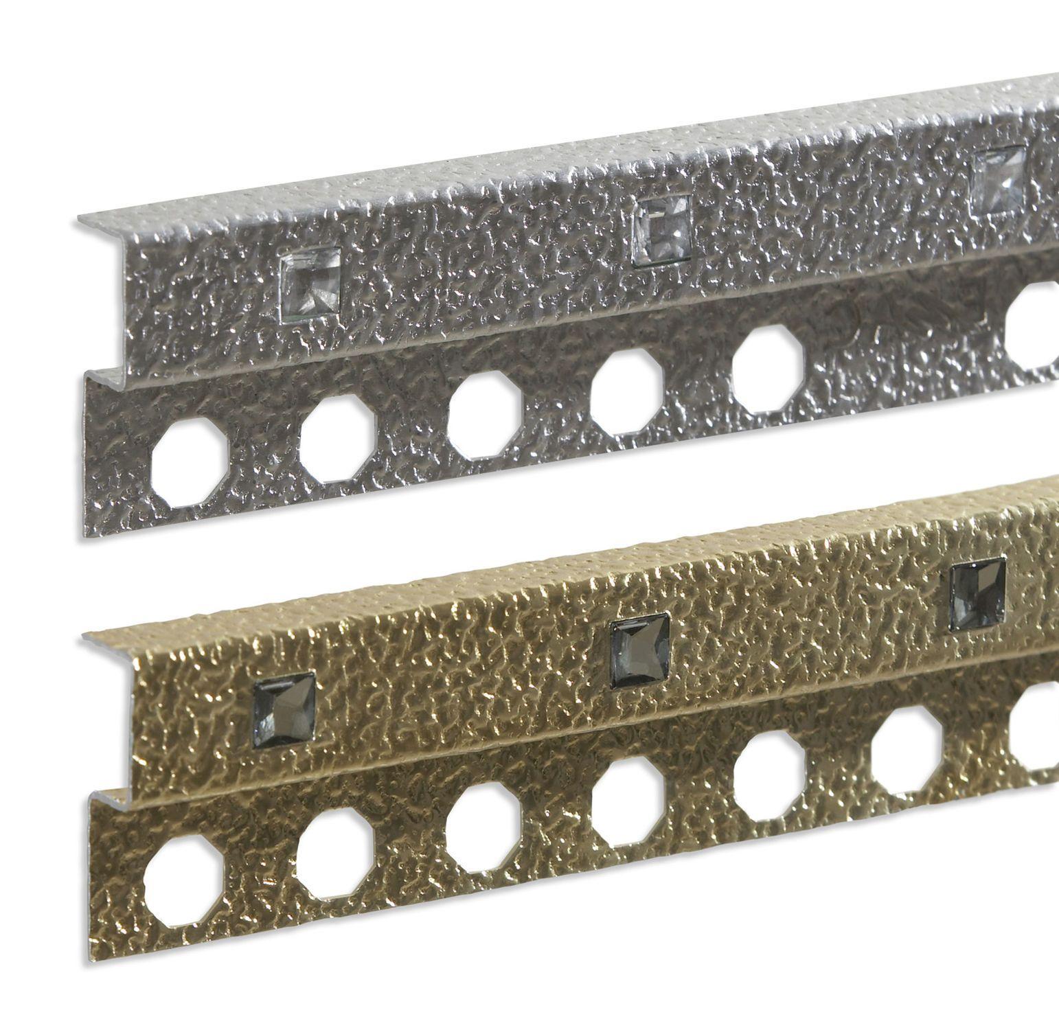 Tile Decorative Trim Listello Tile Trim In Aluminum Decorative  Novolistel® Crystal