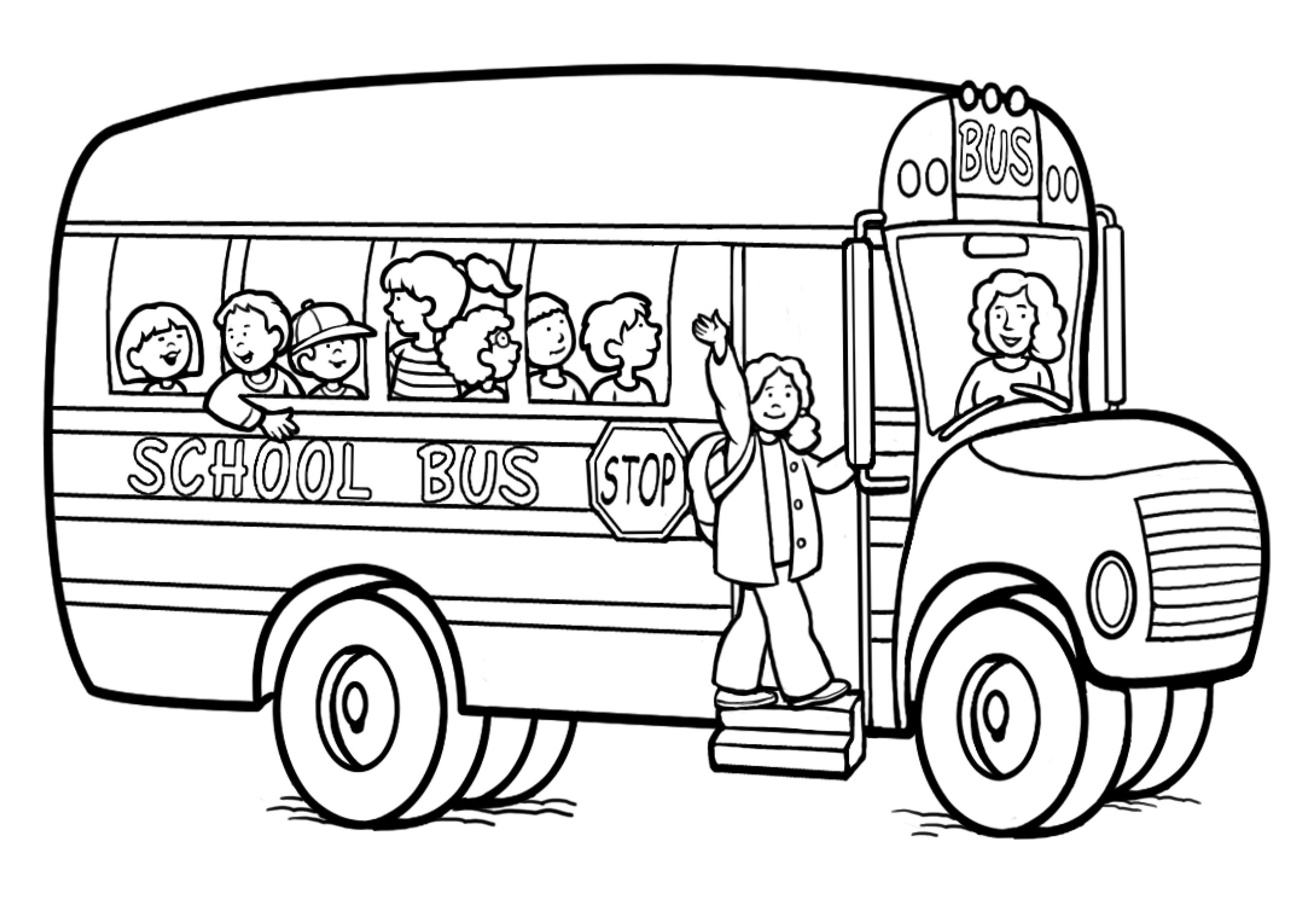 School Bus Coloring Page | MATH TEACHING IDEAS | Pinterest