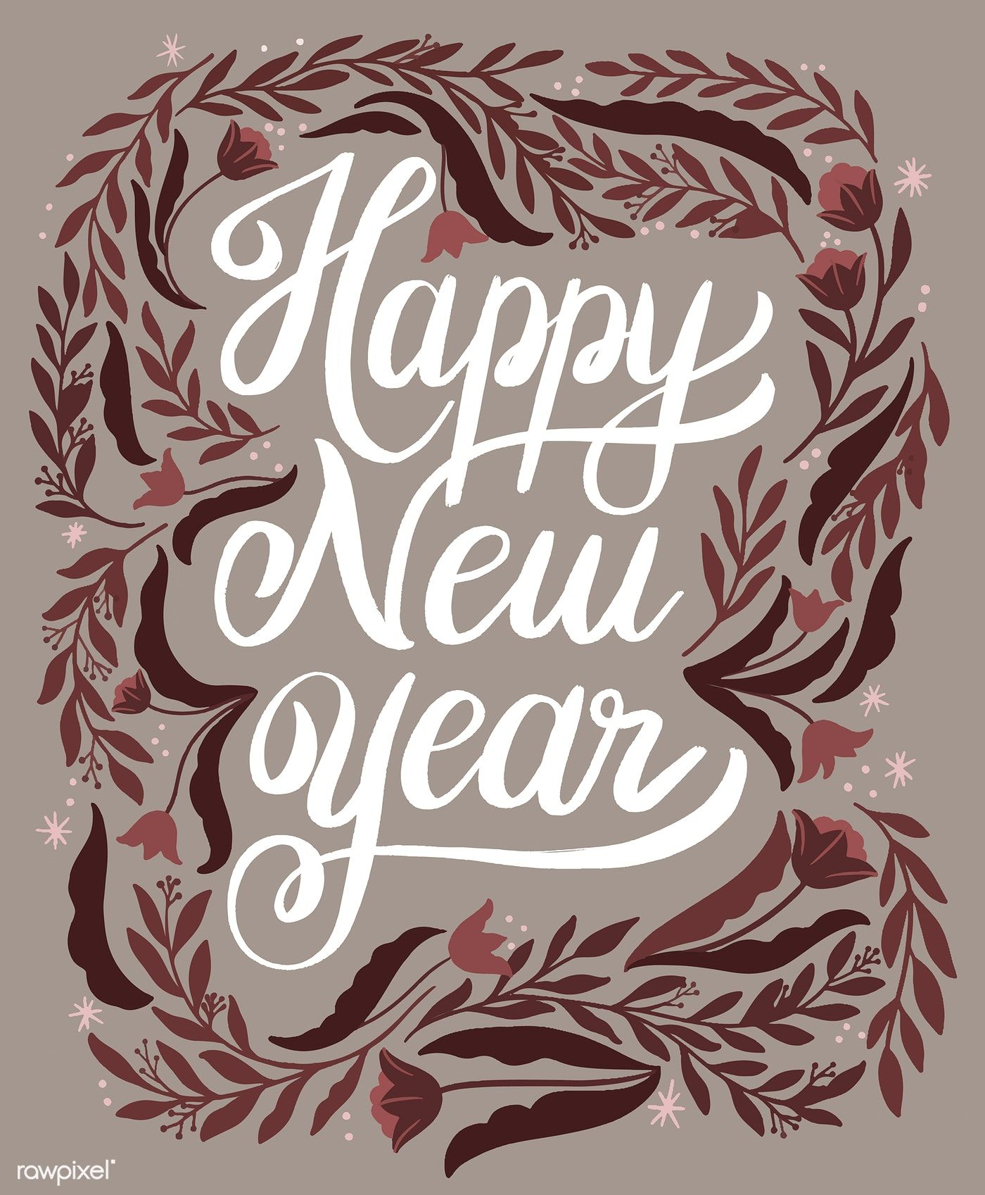 Download premium vector of Happy new year greeting card