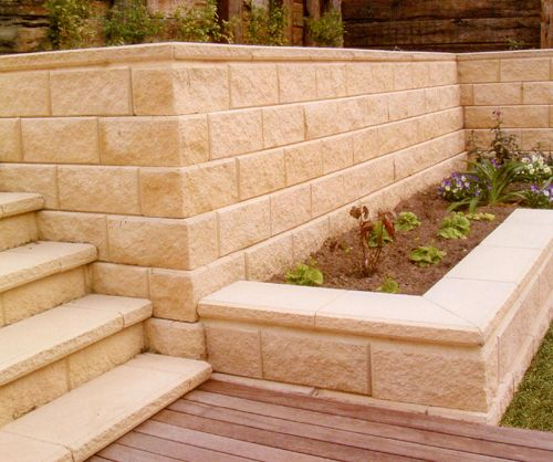 Retaining wall for outside of the laundry From APC Gawler