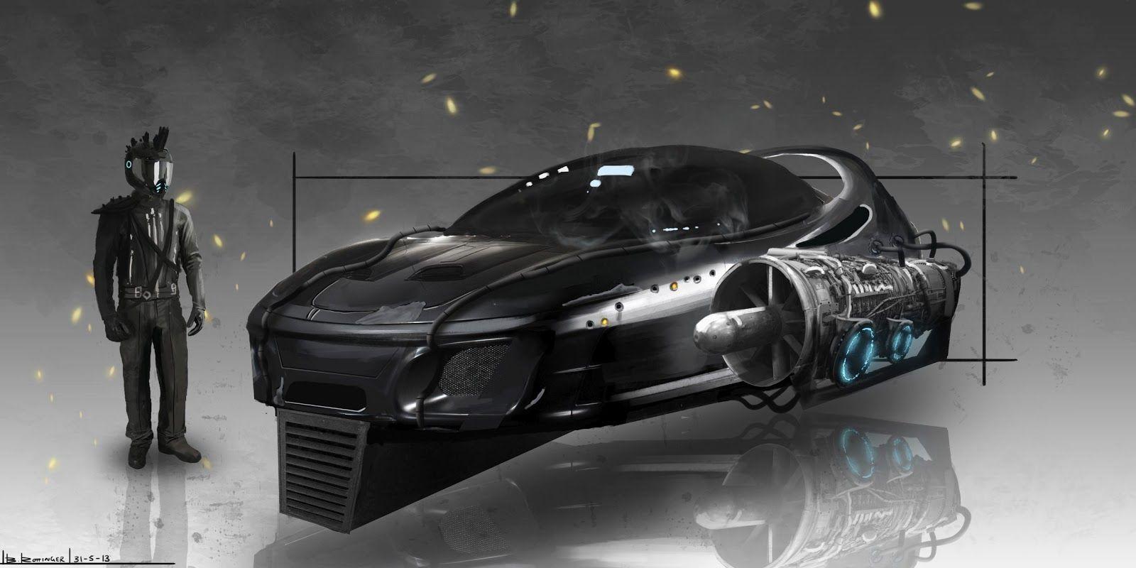 Hovercar Blake Rottinger Art Hover Car Concept