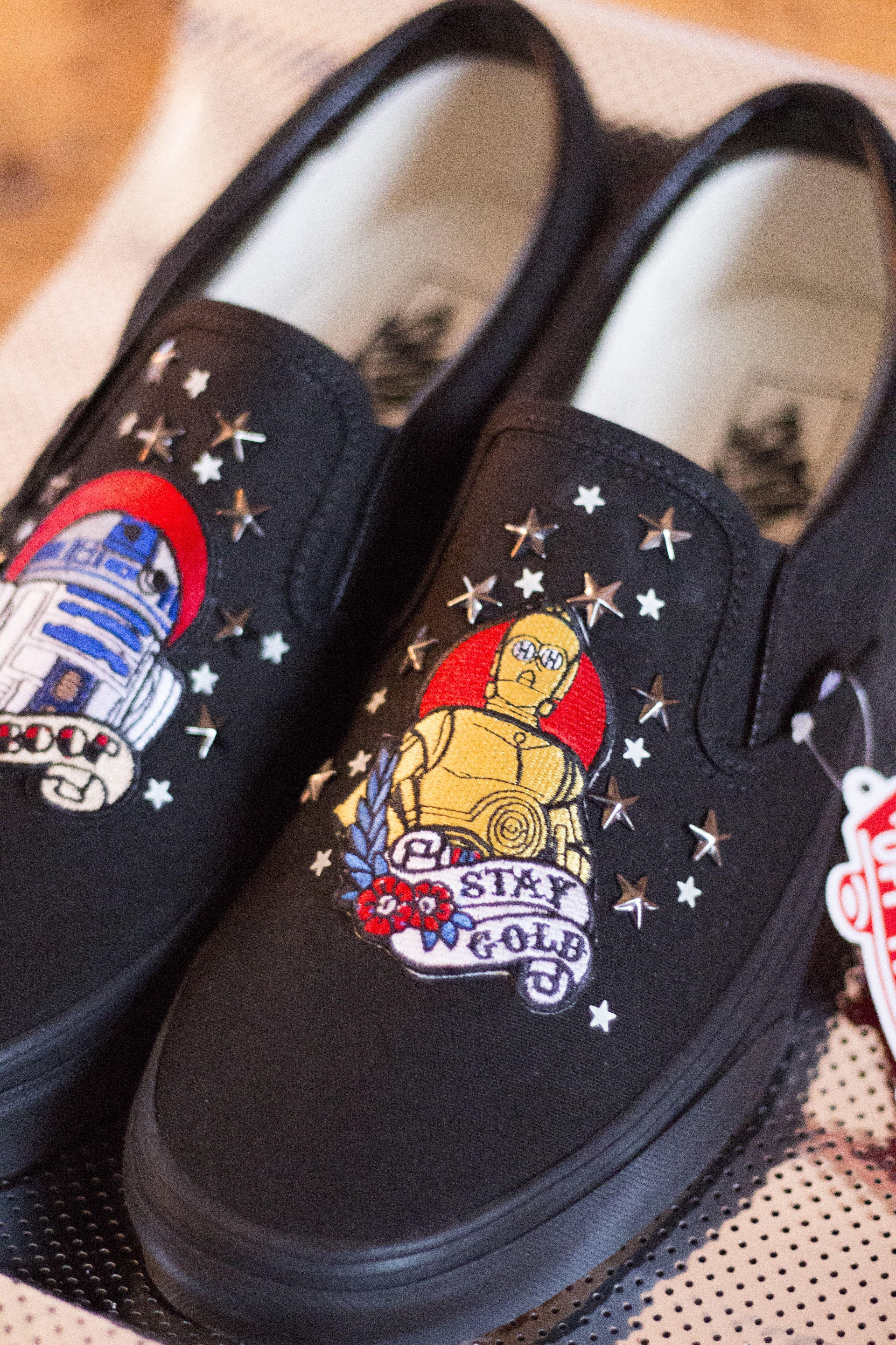 fd8e0fb1d9ad Droid Buddies Slip on bespoke custom Vans Trainers  Star wars shoes The   Droid
