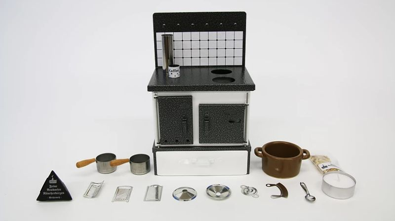 Realistic Miniature Kitchen For Cooking Mini Food Recipes Appliances