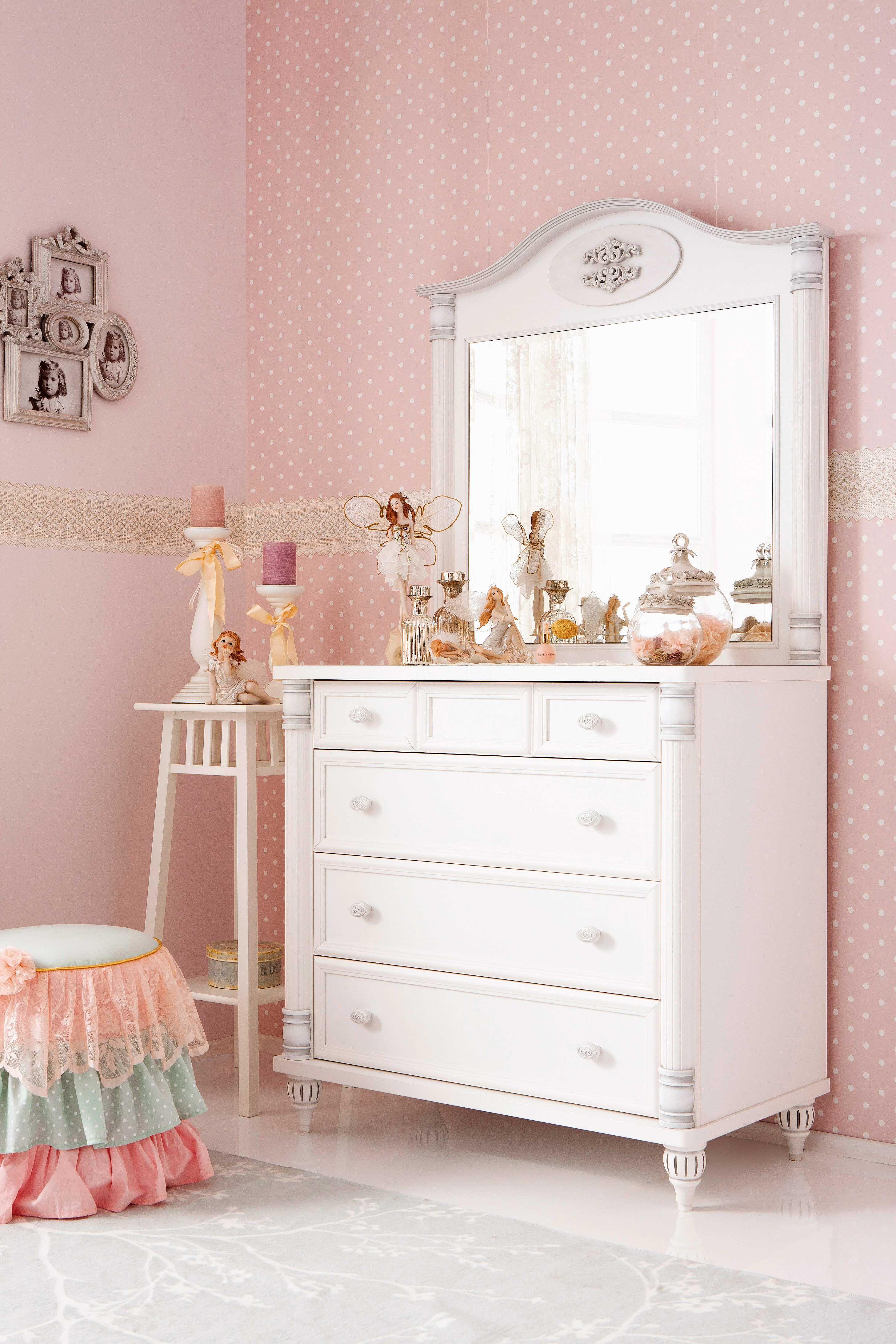 Cilek romantic schminkkommode sideboard mit aufsatzspiegel cilek kinderzimmer romantic - Kinderzimmer sideboard ...