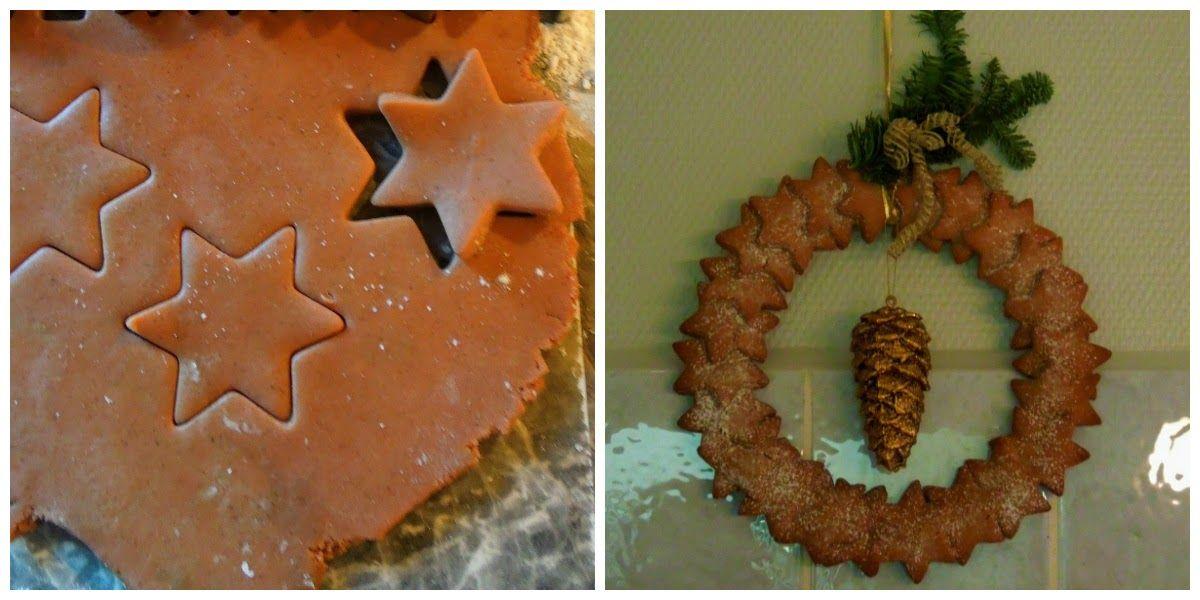 gingerbread star door wreath