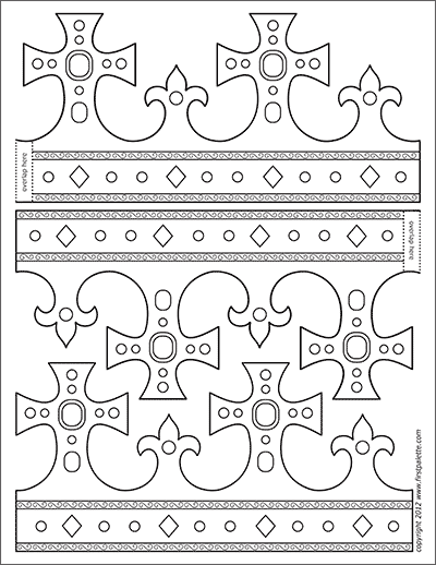King And Queen S Crown Templates Free Printable Templates Coloring Pages Firstpalette Com Crown Template Crown Printable King And Queen Crowns