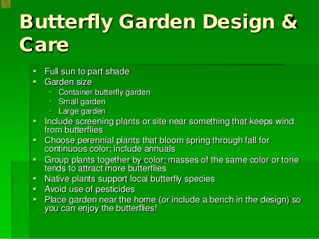 Exceptional Garden Design With Starting A Butterfly Garden With Home And Garden From  Slideshare
