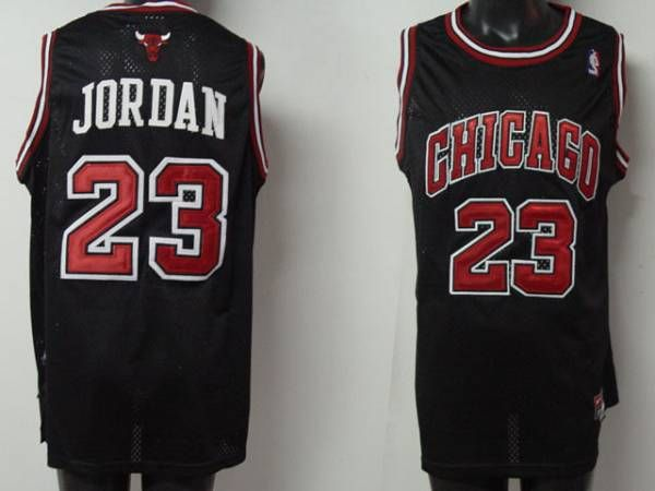lxfvyo Bulls #23 Michael Jordan Embroidered Black NBA Jersey! Only $20.50