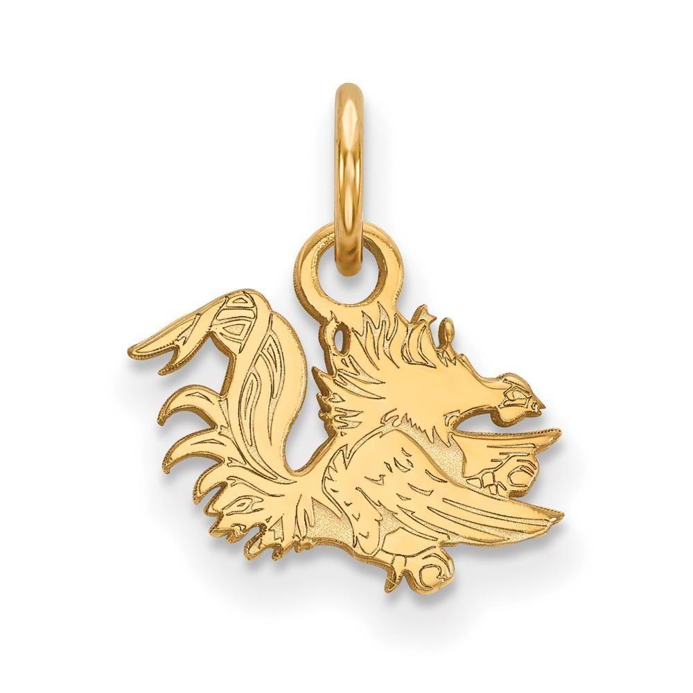 Collegiate University of South Carolina Sterling Silver LogoArt University of South Carolina Small Dangle Earrings