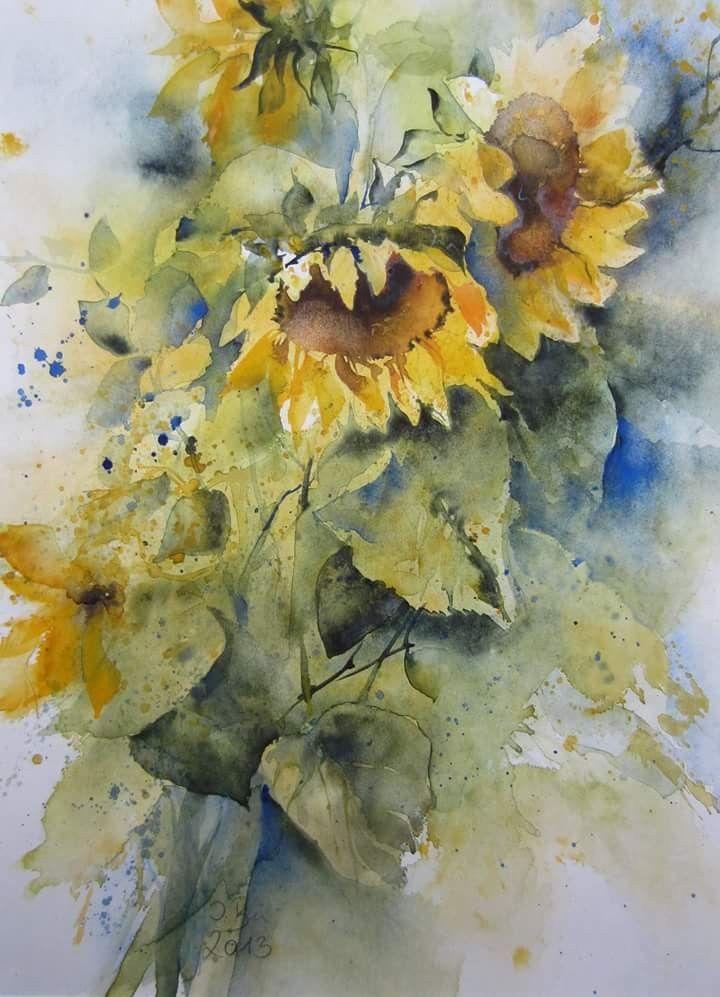 Pin Von Miamjos Auf Painting Blumen Aquarell Aquarell Blumen Blumen Malen