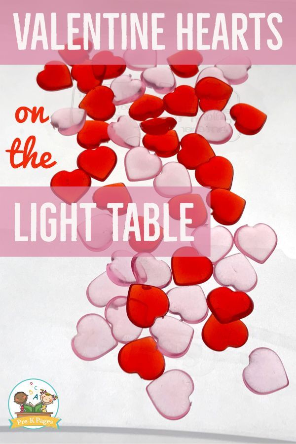 Valentine\'s Day Light Table Activities | Learning letters ...