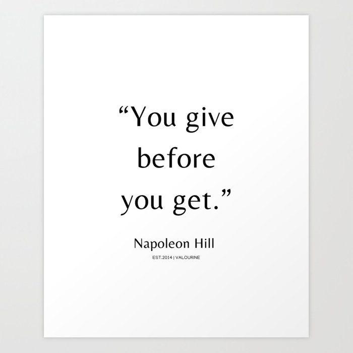 34 | Napoleon Hill Quotes| 210104| Success Business Inspiring Manifesting Affirmation Motivational Art Print by Wordz