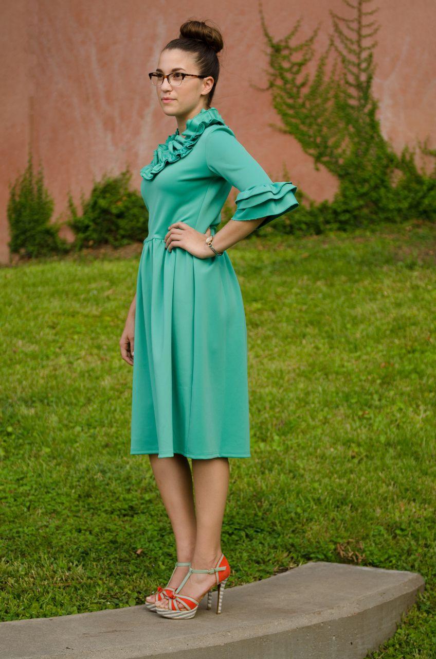 Jade mackenzie josephine ruffled dress