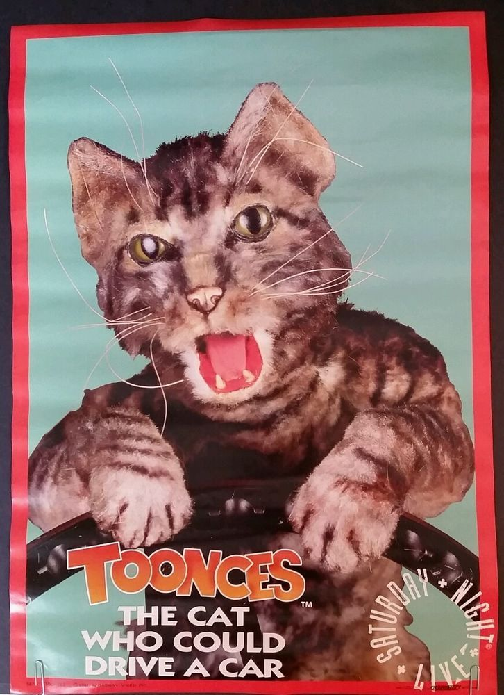Toonces The Cat Who Could Drive A Car Poster Saturday Night Live Snl