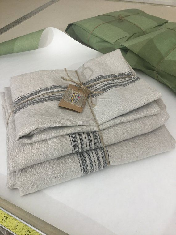 Natural Linen Bedspread Blanket French Provence Style King