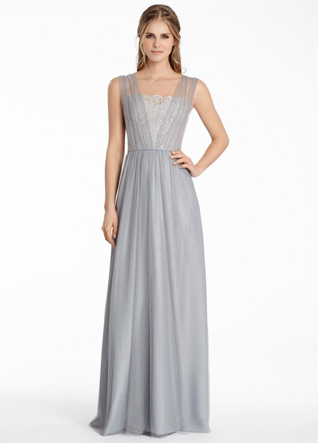 Jim Hjelm Occasions Style 5558 in Silver Metallic lace with Pewter ...