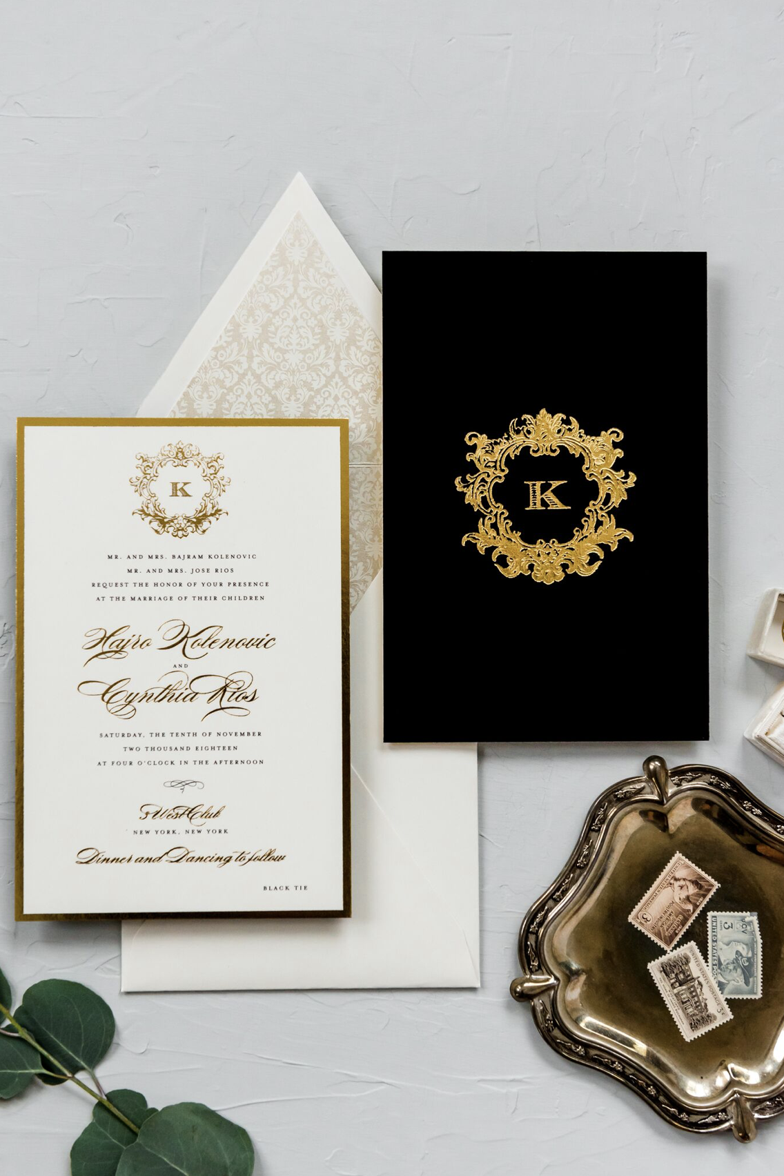 Wedding Invitations Little Black Dress Paperie Velvet Wedding Invitations Foil Wedding Invitations Gold Foil Wedding Invitations