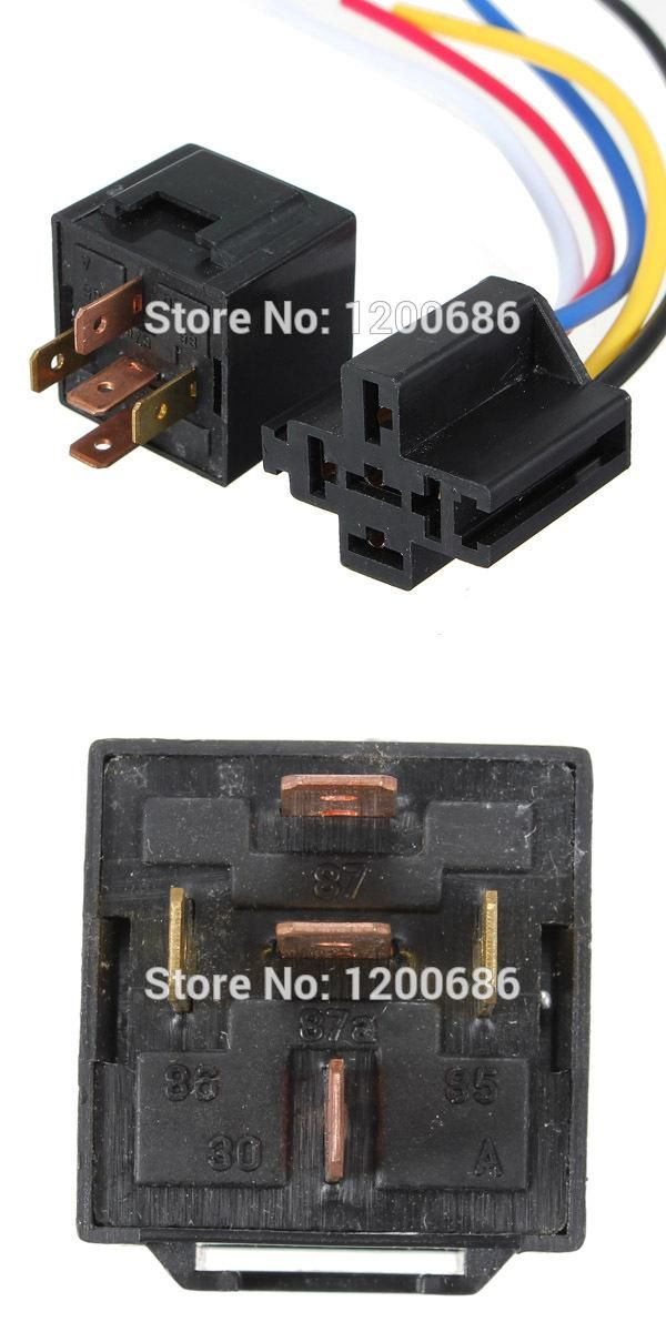 Visit To Buy 12v 30 40 A Amp 5 Pin 5p Automotive Harness Car Auto Relay Socket 5 Wire Advertisement Graphic Card Sockets Electronic Products