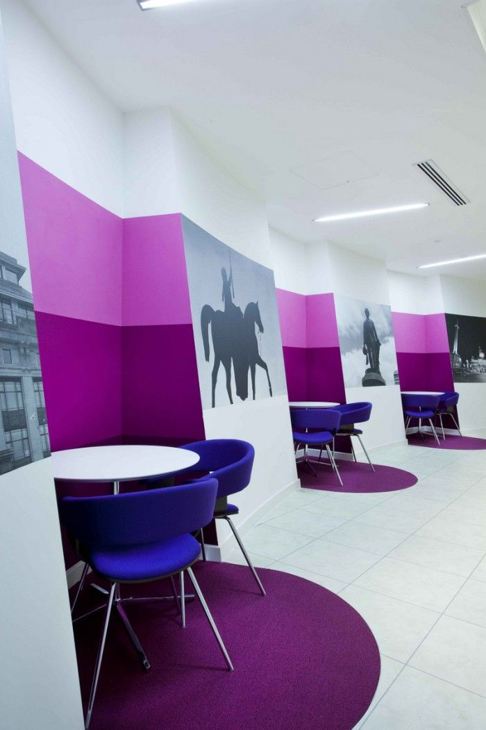 Office Tour Inspiration Offices Clad In Purple, The Color of
