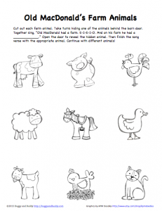 peek a boo farm animals activity free printable - Free Printable Pictures Of Animals