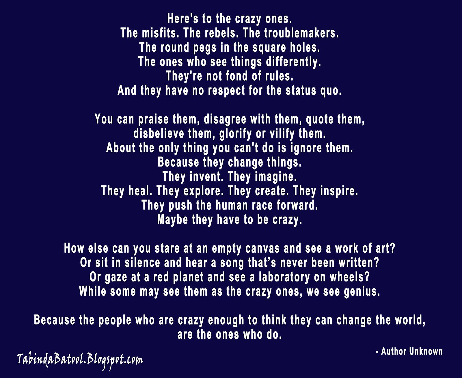 Large Of Crazy People Quotes