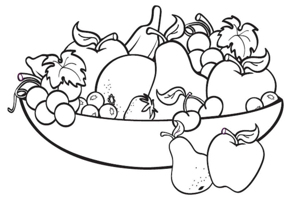 Free Printable Fruit Coloring Pages For Kids Fruit Coloring Pages Apple Coloring Pages Fruits Drawing