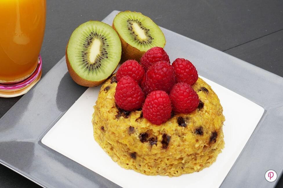 Bowl cake avoine banane