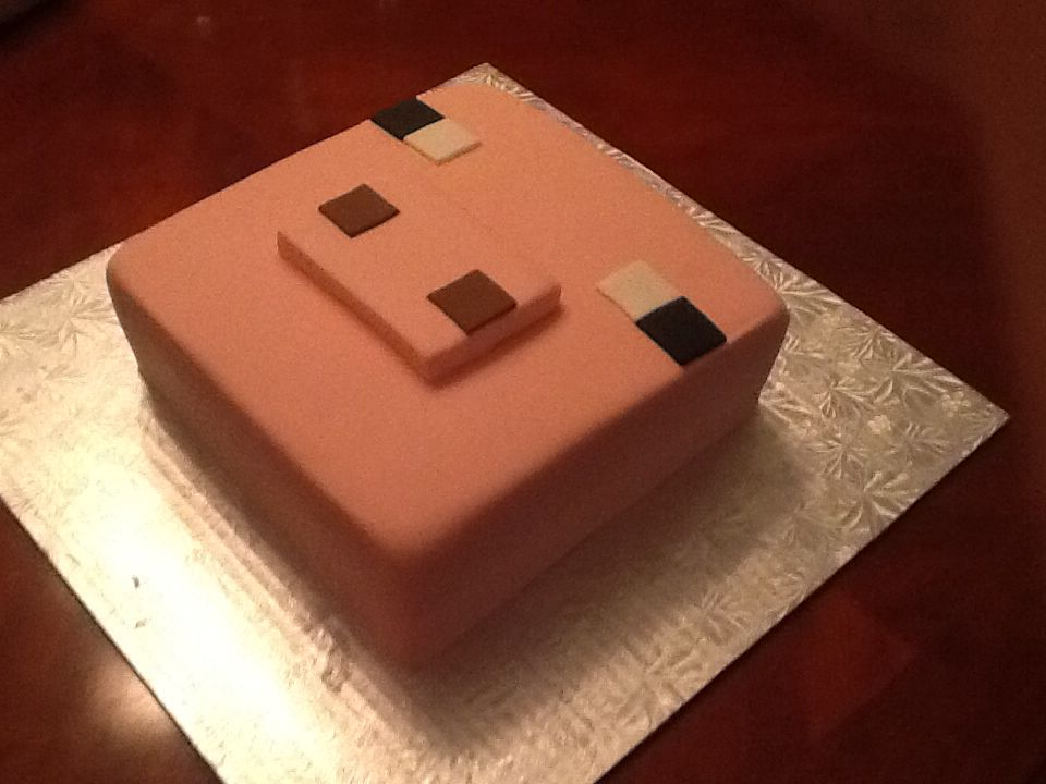 Minecraft Pig Cake Images : Minecraft pig cake. Between the layers treats by Mandy ...