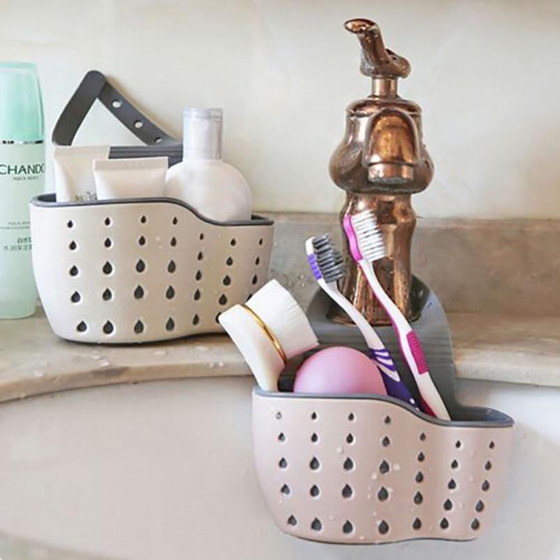 Useful Suction Cup Sink Shelf Soap Sponge Drain Rack Kitchen Sucker Storage Tool