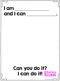 From Head to Toe: We Can Do It! class book freebie