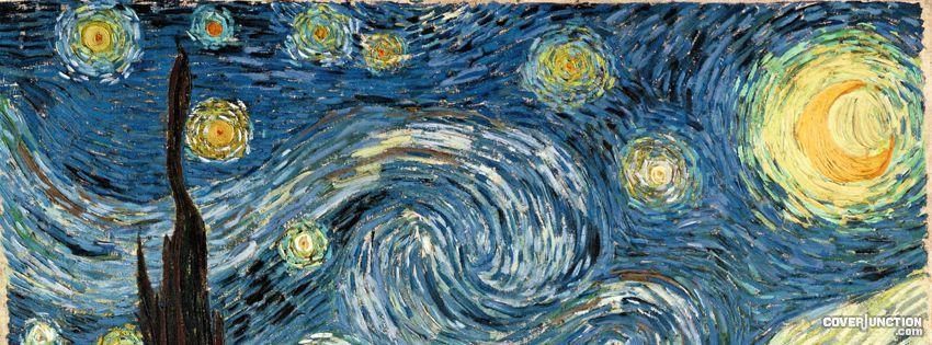 Starry Night Facebook Profile Cover Quadros De Van Gogh Capa De Twitter Imagem Capa Facebook
