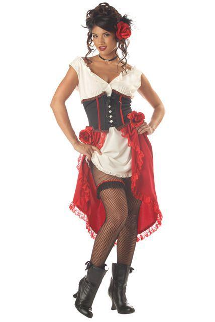 deguisement femme western saloon