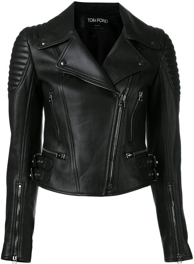 Tom zipped 2019ludaLambskin Ford in biker jacket 4RLq35jA