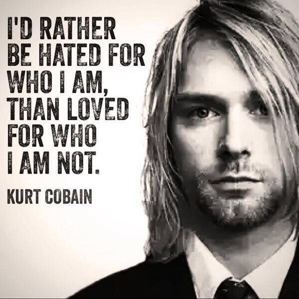 Kurt Cobain quote. He is right.   other in 2019   Kurt ...