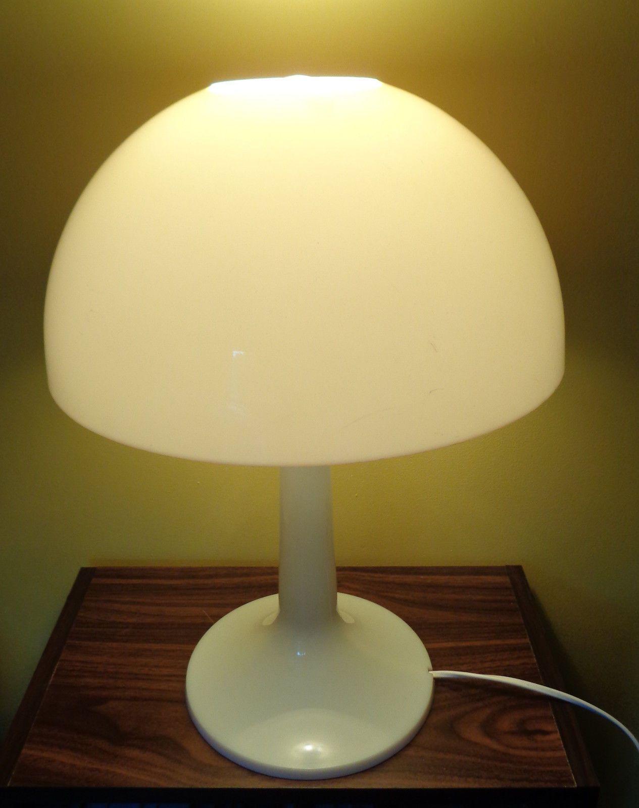 Mid Century Modern Mushroom Table Lamp Fantastic Retro White
