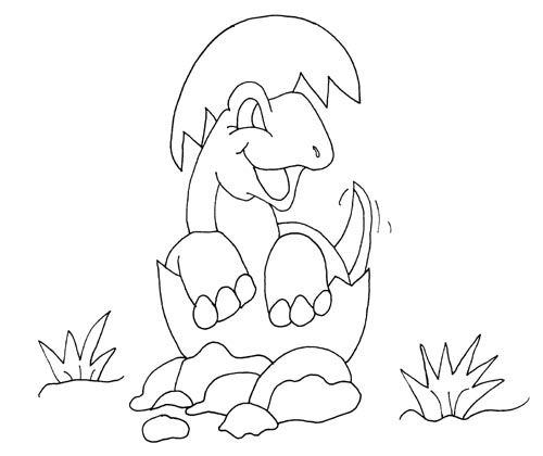 Baby Dinosaur Coloring Pages For Kids Dinosaur Coloring Pages