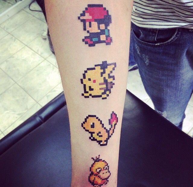 My 8-bit pokemon tattoo. #pokemon #8bit #tattoo #geek ...