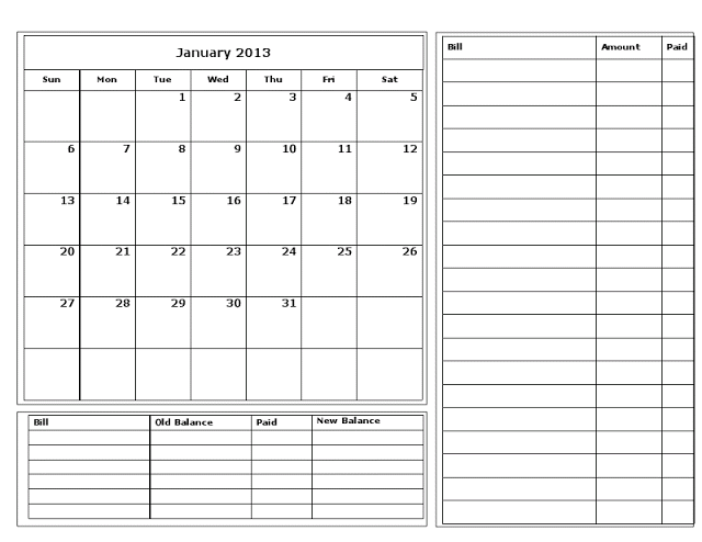 Free+Printable+Bill+Calendar   bullet journaling   Pinterest   Free ...