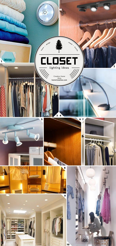 Closet Lighting Ideas From Wireless to Walk In Closet