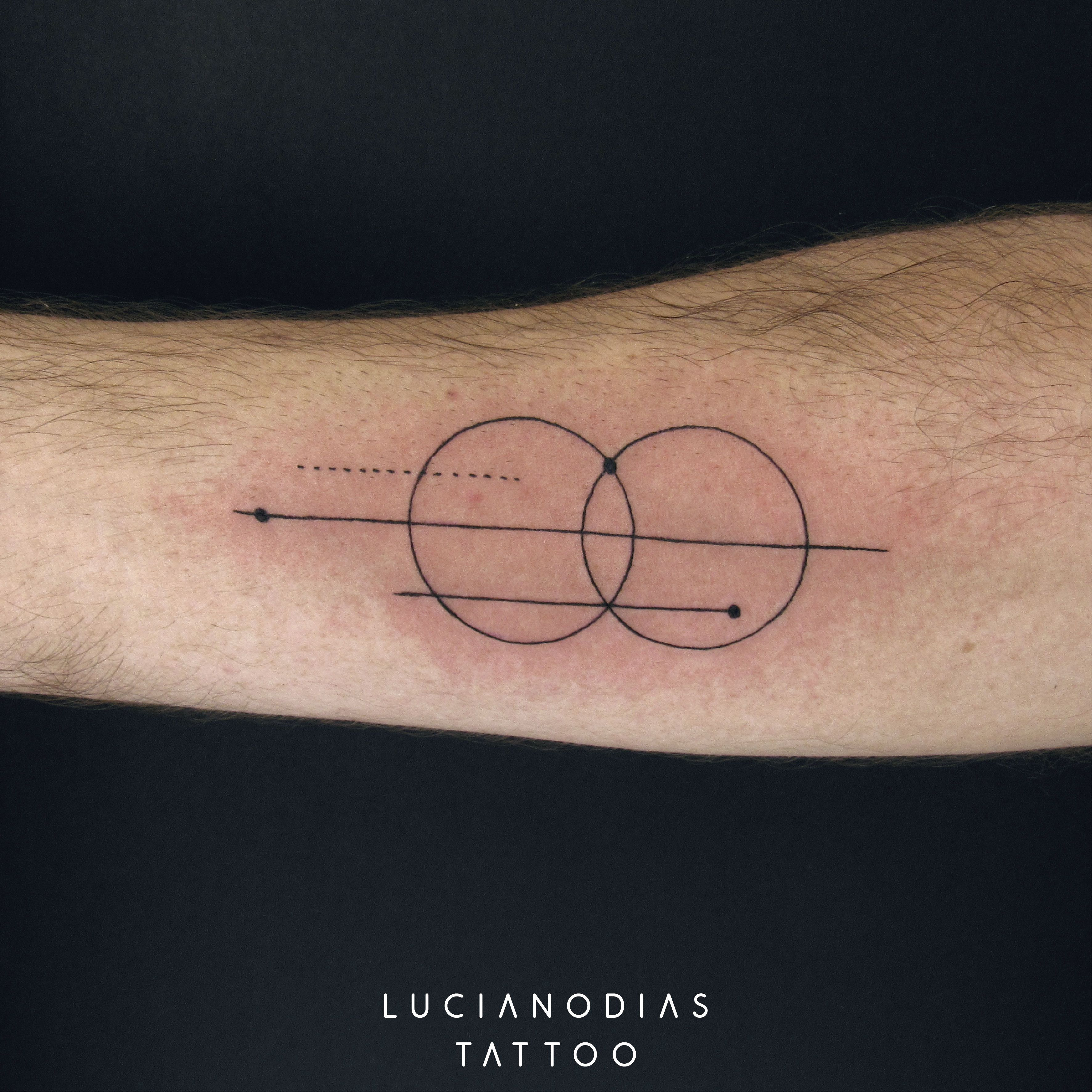 Geometric tattoo from the Netflix series Gypsy made by me at the ...