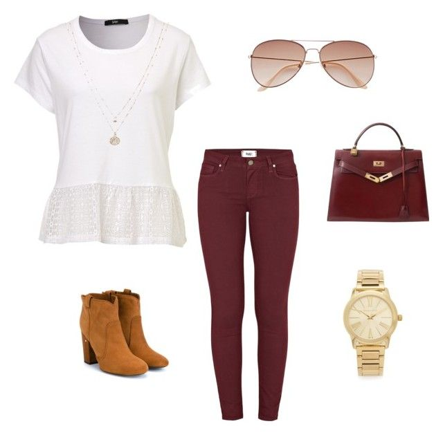 style by m1caitlin on Polyvore featuring polyvore, fashion, style, Paige Denim, Laurence Dacade, Hermès, Michael Kors, LC Lauren Conrad, H&M and clothing
