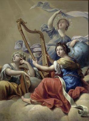 """""""Calliope, Uranie et Terpsichore"""", Pierre Mignard, XVIIème"""