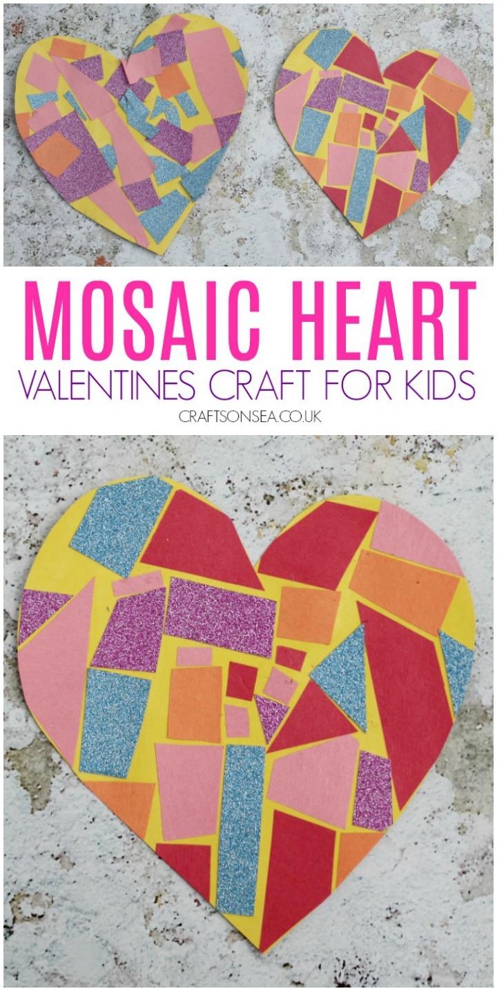 Easy Mosaic Heart Craft