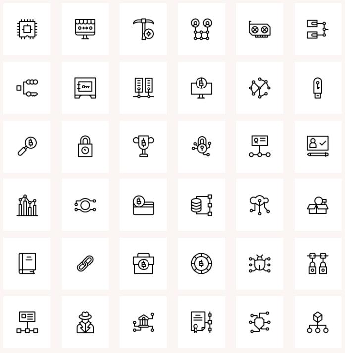 Free Blockchain Icons Free Icon Packs Free Icons Blockchain