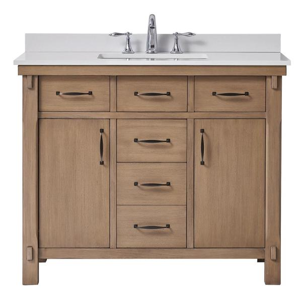 Home Decorators Collection Bellington 42 In W X 22 In D Vanity In Almond Toffee With Cultured Marble Vanity Top In White With White Sink Bellington 42 The H Marble Vanity 22 inch vanity with sink