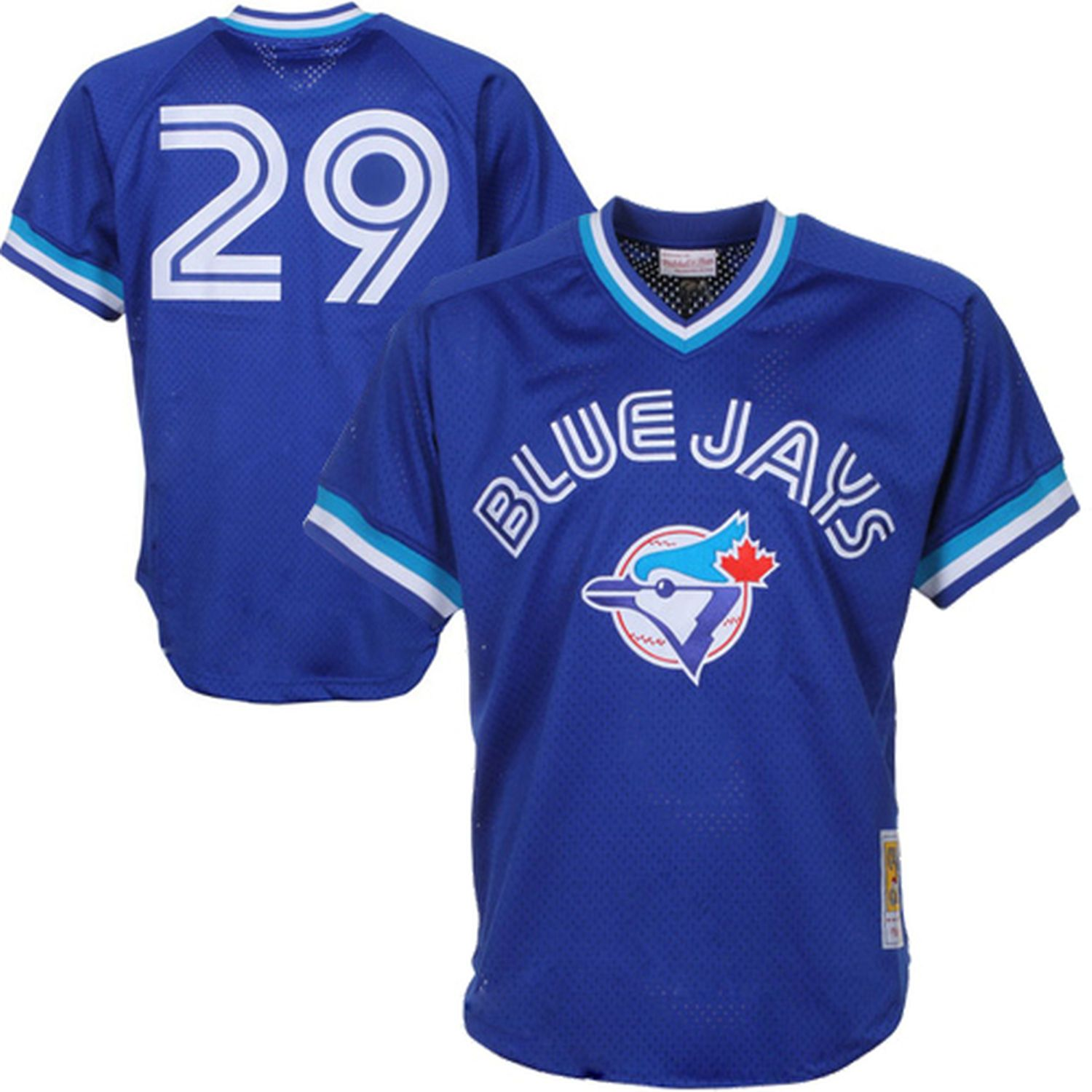 1007cb649b3 Joe Carter Toronto Blue Jays Mitchell   Ness 1993 Authentic Cooperstown  Collection Mesh Batting Practice Jersey - Royal