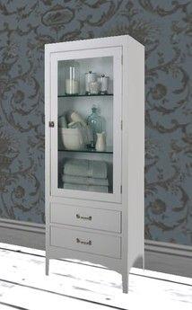 Albion Vintage White Bathroom Cabinet Tall Vintage Bathroom