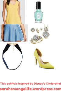 Women and Junior Outfit Inspried By Cinderella.