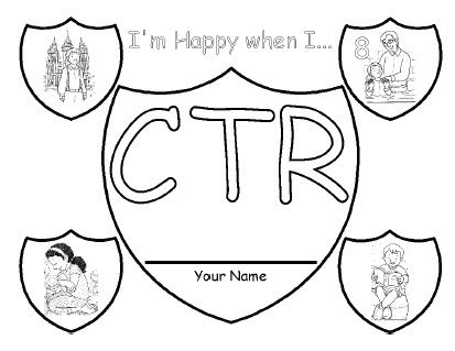 Lds Ctr Shield Coloring Page Lds Coloring Pages Ctr Shield